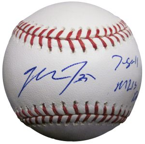 Mike Trout Autograph Signing 2016 Public Appearance Autographed Rookie Card Signed Baseball Bat