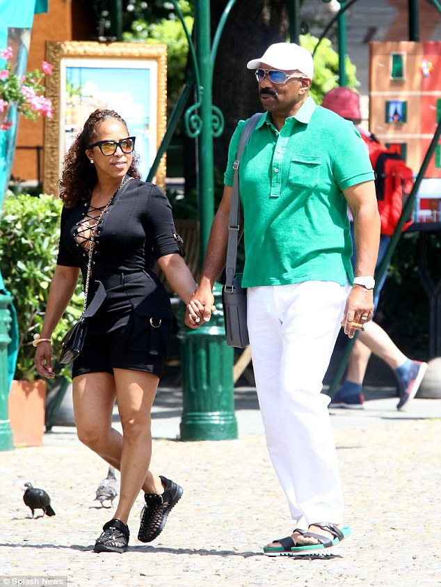 Steve Harvey with his wife