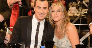 Aniston with her husband