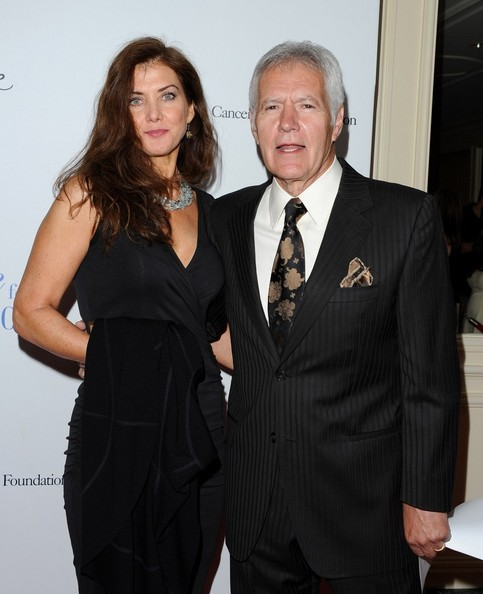 A pic of Alex Trebek with partner
