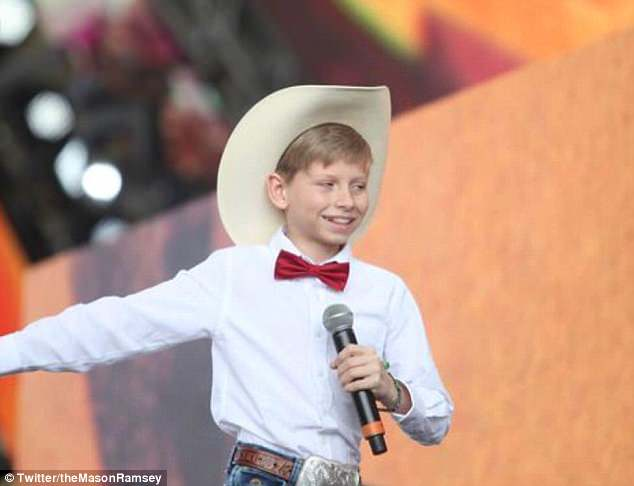 a very young Mason Ramsey too